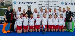 The Great Britain team pose with the Investec Private Banking Trophy - Credit Simon Parker