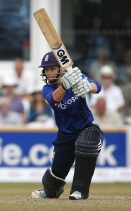 TAUNTON, ENGLAND - JULY 21:  Amy Jones of England in action during the 1st Royal London ODI of the Women's Ashes Series between England Women v Australia Women at The County Ground on July 21, 2015 in Taunton, England.  (Photo by Julian Herbert/Getty Images)