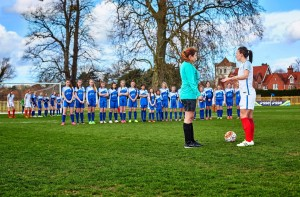 England Lionesses take on 100 School Girls_3