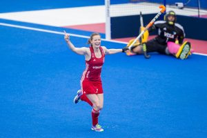 Women's Hockey Champtions Trophy - Day 1 - GB vs Argentina - Helen Richardson-Walsh celebrates scoring the equaliser