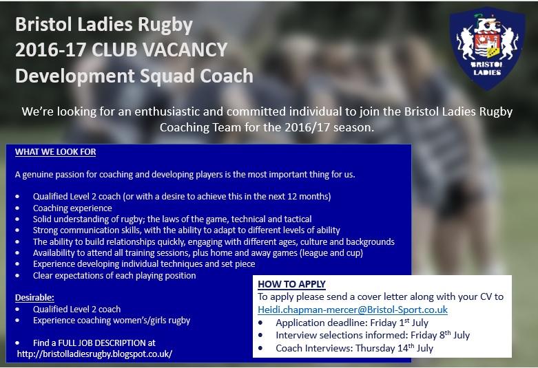 Vacancy Development squad coach