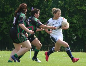 Wigan St Pats v Featherstone-78 Katie Lyons (Red boots)