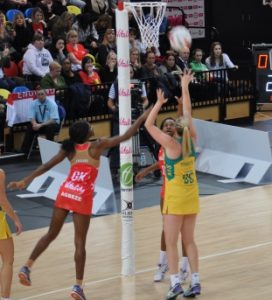 Agbeze and Gibson defend v Aus
