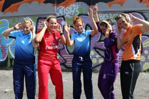 Kia Super League stars Katherine Brunt, Kate Cross, Lauren Winfield, Georgia Elwiss and Charlotte Edwards