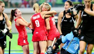 RIO - Women's Olympic Hockey tournament SF2 New Zeland - Great Britain Foto: Alex Danson scored the 1-0. WORLDSPORTPICS COPYRIGHT FRANK UIJLENBROEK