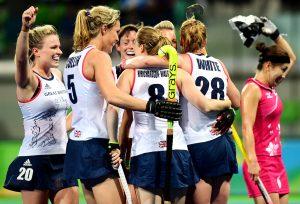 RIO - Women's Olympic Hockey tournament 22 Japan - Great Britain foto: GB scored. WORLDSPORTPICS COPYRIGHT FRANK UIJLENBROEK